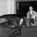 Ondina con Luigi macchina garage 1966